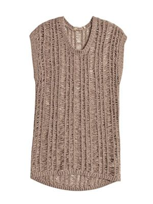 Greta ladder-knit sweater
