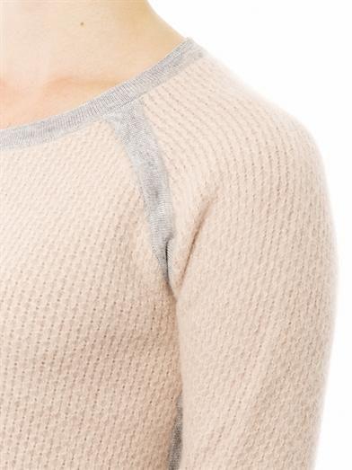 J Brand Contrast-trim angora sweater
