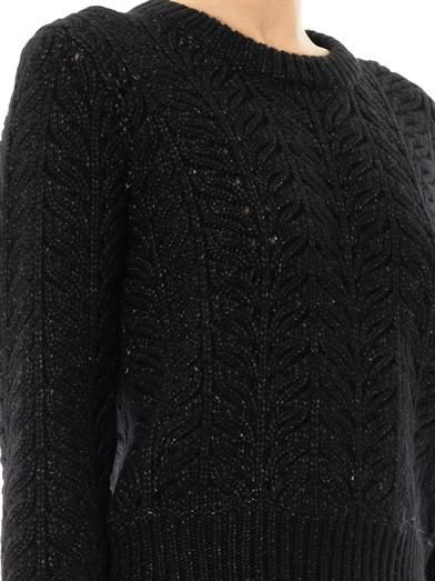J Brand Hester cable-knit sweater