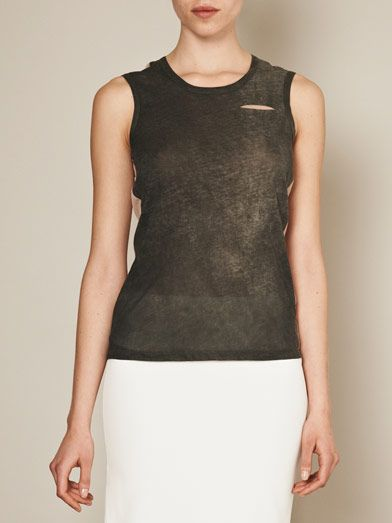J Brand Thelma sheer-back tank top