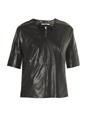 Jane leather T-shirt