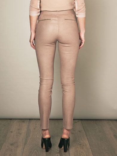 J Brand Claudette skinny leather trousers