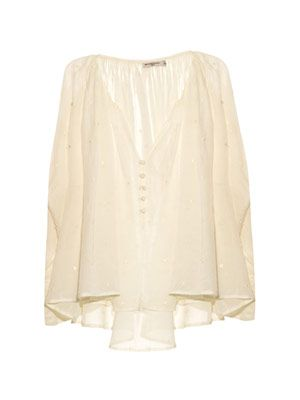 Lina embroidered cheesecloth top