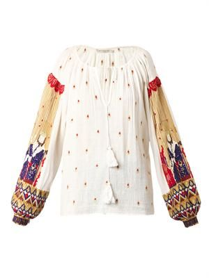 Kacy embroidered cotton blouse