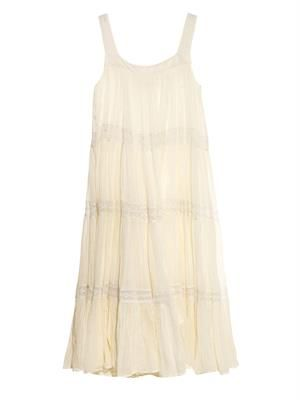 Imany lace-trim cotton dress