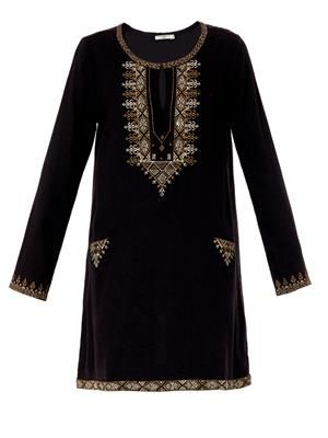 Zita embroidered silk tunic