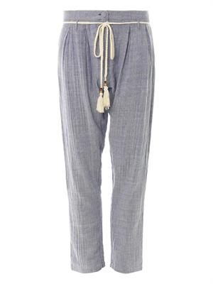 Matelot striped cotton trousers