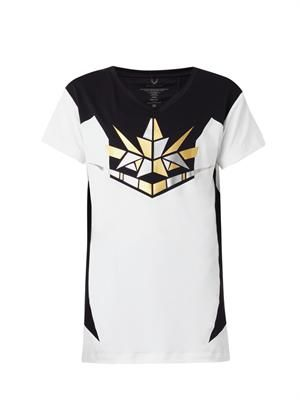 Slider geometric-print T-shirt