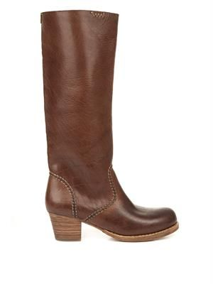 Rosebud leather boots
