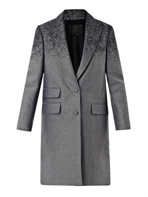 Degradé single-breasted coat