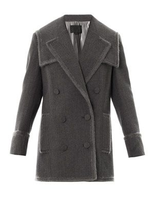 Layered lapel peacoat