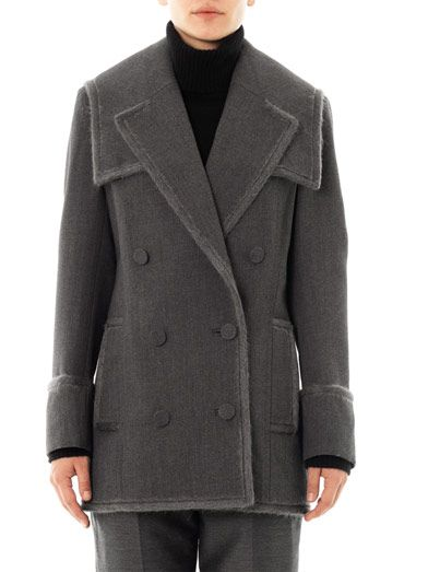 Alexander Wang Layered lapel pea coat