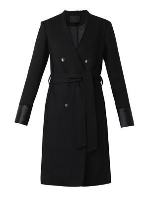 Raw-edge tailored coat