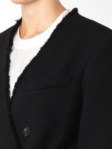 Alexander Wang Raw-edge tailored coat