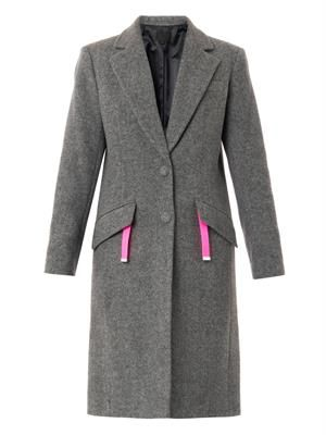 Wool-blend tailored coat