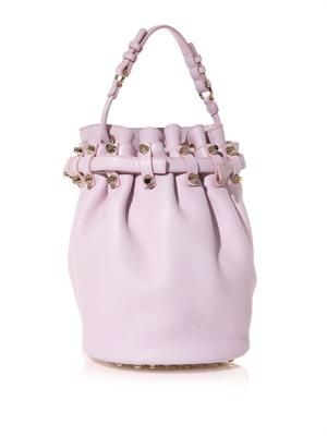 Diego textured-leather bucket bag