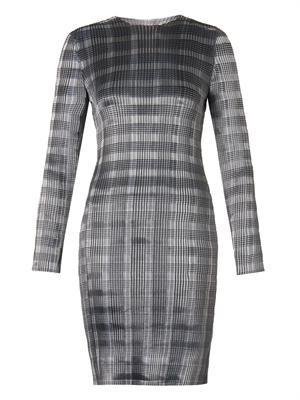 Technical-pleat pinstripe dress
