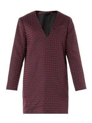 Micro-paisley jacquard dress
