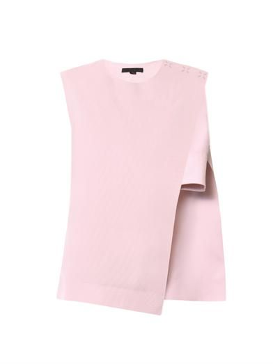 Alexander Wang Asymmetric cotton-piqué top