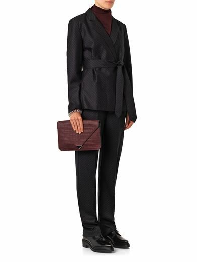 Alexander Wang Pinstripe flannel-wool blazer