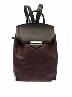 Prisma embossed-leather backpack