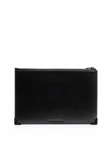 Alexander Wang Prisma snake and leather clutch