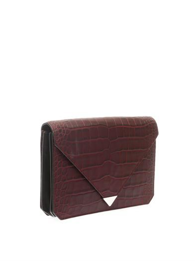Alexander Wang Prisma embossed-leather clutch