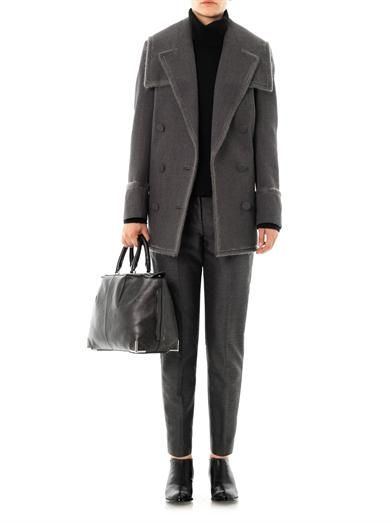 Alexander Wang Leather panel wool trousers