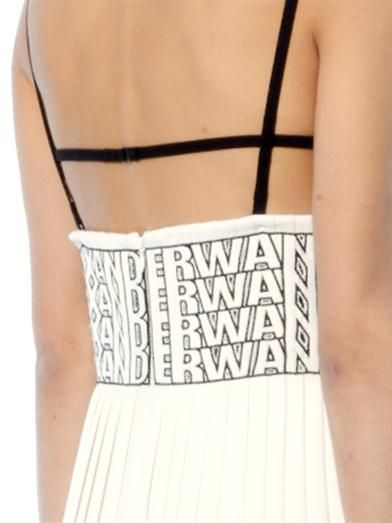 Alexander Wang Logo-embroidered crepe dress