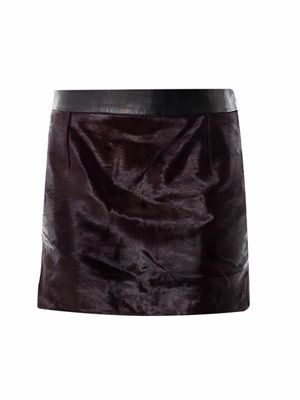 Pony hair mini skirt