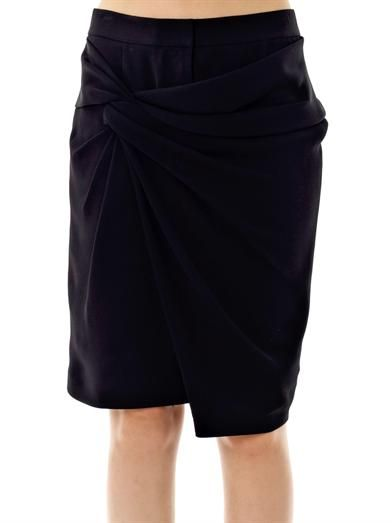 Alexander Wang Twill twist wrap skirt