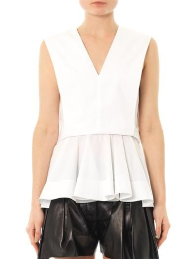 Alexander Wang Enzyme poplin sleeveless top
