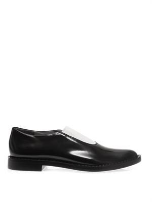 Darla elasticated-front leather loafers