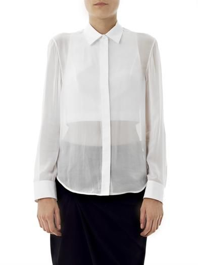 Alexander Wang Double layer silk blouse