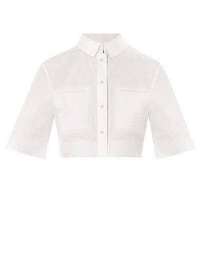 Alexander Wang Cropped cotton-poplin shirt