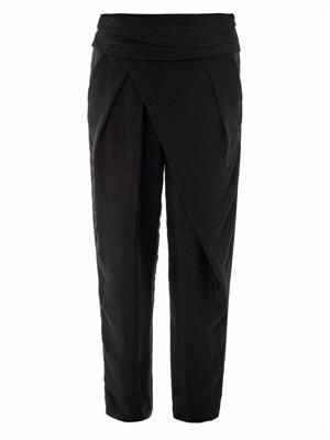 Asymmetric draped jogging trousers