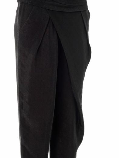 Alexander Wang Asymmetric draped jogging trousers