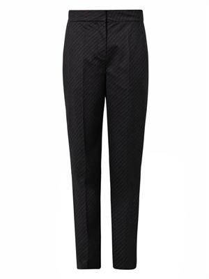 Pinstripe flannel-wool tailored trousers