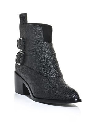 Erin double buckle ankle boots