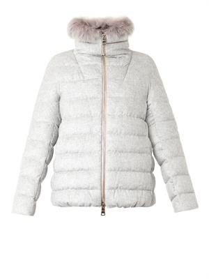 Dropglide quilted down jacket