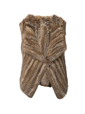 Rabbit-fur gilet