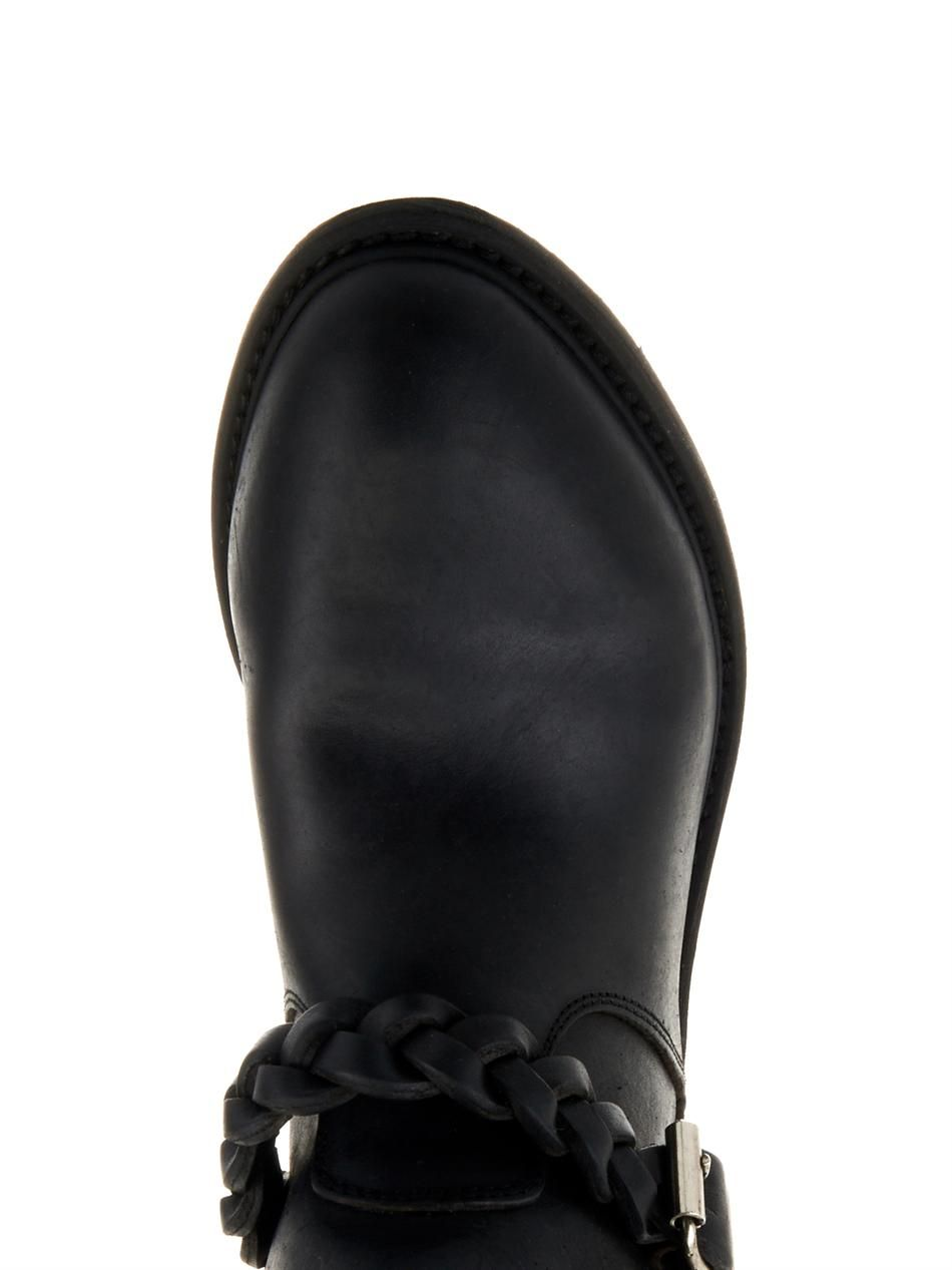 leather biker boots golden goose deluxe brand matchesfashion com us. Black Bedroom Furniture Sets. Home Design Ideas