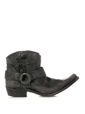 Rennie distressed moto boots