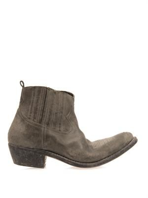 Crosby distressed cowboy boots