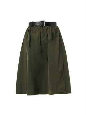 Terry Japanese-twill midi skirt