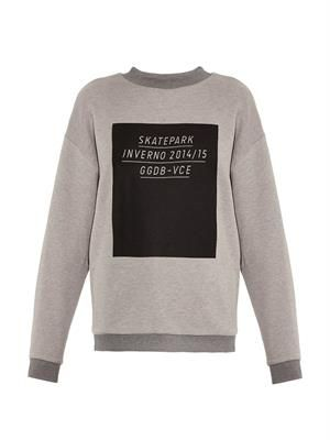 Slogan-print sweatshirt