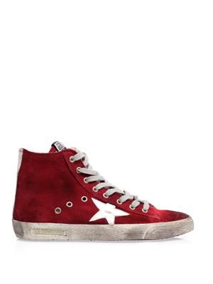 Francy suede high top trainers