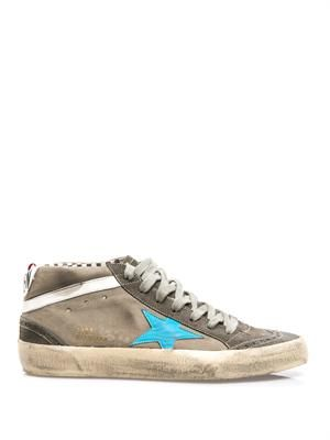 Mid Star leather trainers