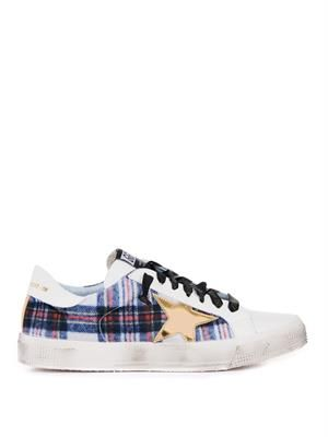 May low-top plaid trainers