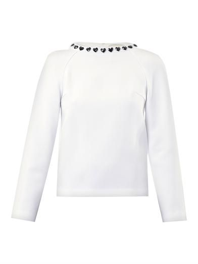 Honor Heart jewelled collar top